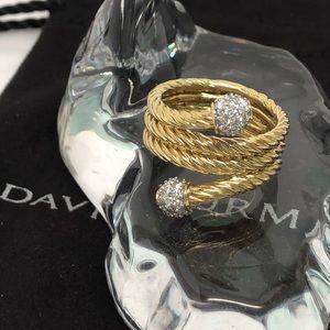 DAVID YURMAN 18K Solid Gold Diamond Solaris Ring